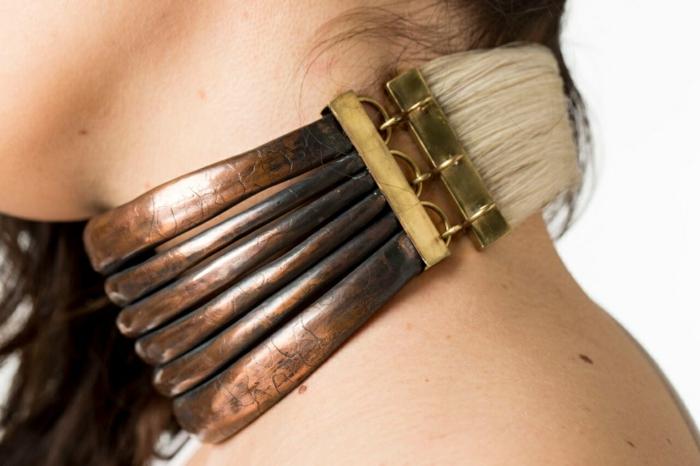 schmuck aus pferdehaar armband halsband