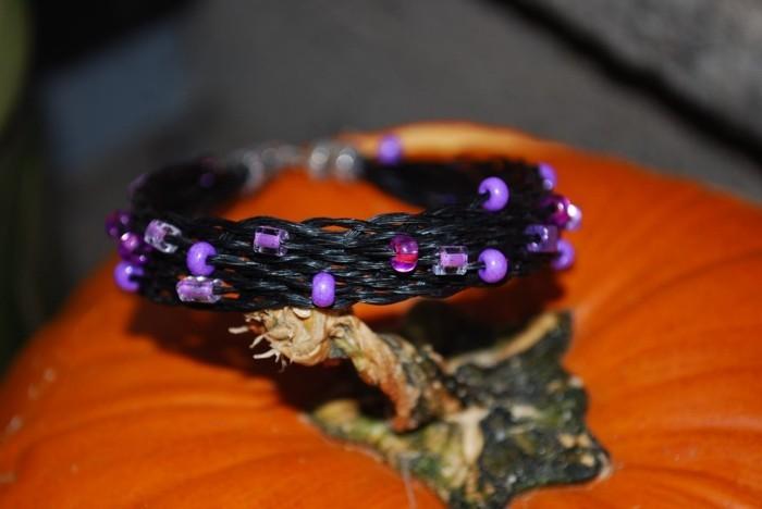 schmuck aus pferdehaar armband