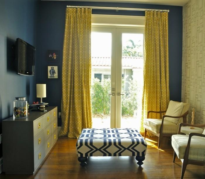 sichtschutz ideen für das wohnzimmer gardinen mit frischem muster