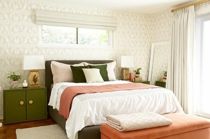 sichtschutz im schlafzimmer helle gardinen erfrischen das ambiente