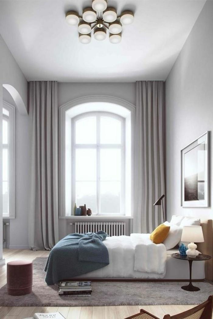 sichtschutz im schlafzimmer in betracht ziehen helle gardinen sind eine tolle lösung