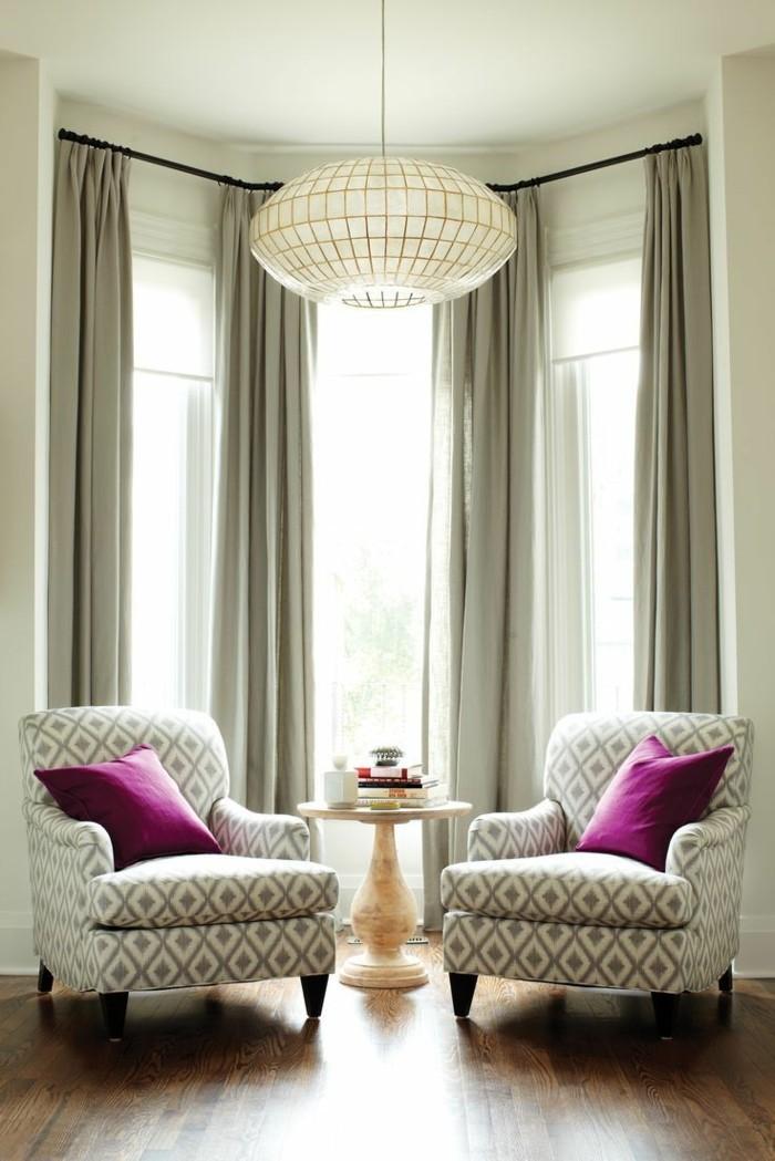 sichtschutz im wohnbereich graue gardinen die sich ins innendesign einschreiben
