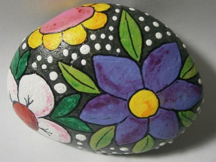 sommerblumen malen steine bemalen ideen bastelideen mit farben