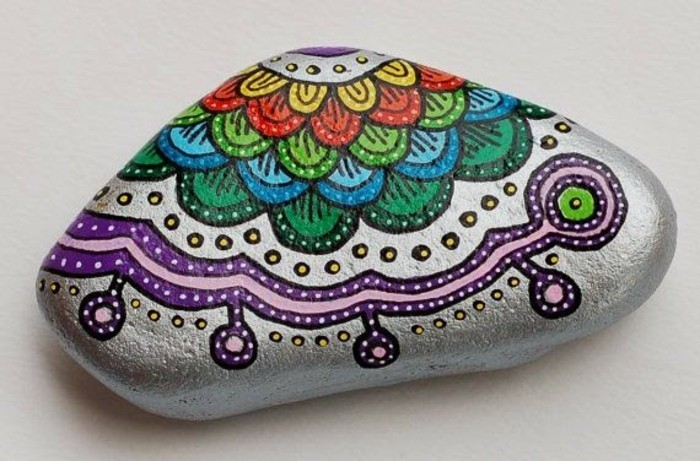 steine bemalen idee bunte farben