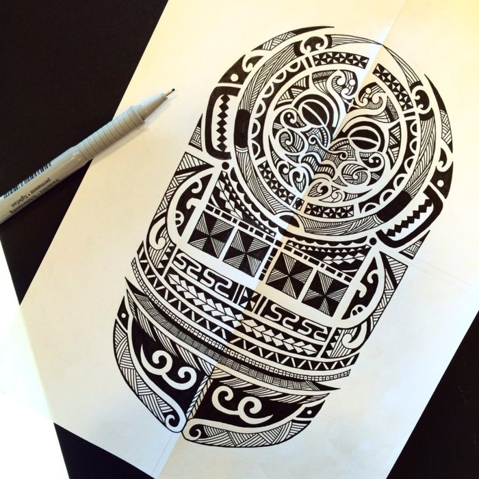 tattoo designs maori motive männer tätowierung