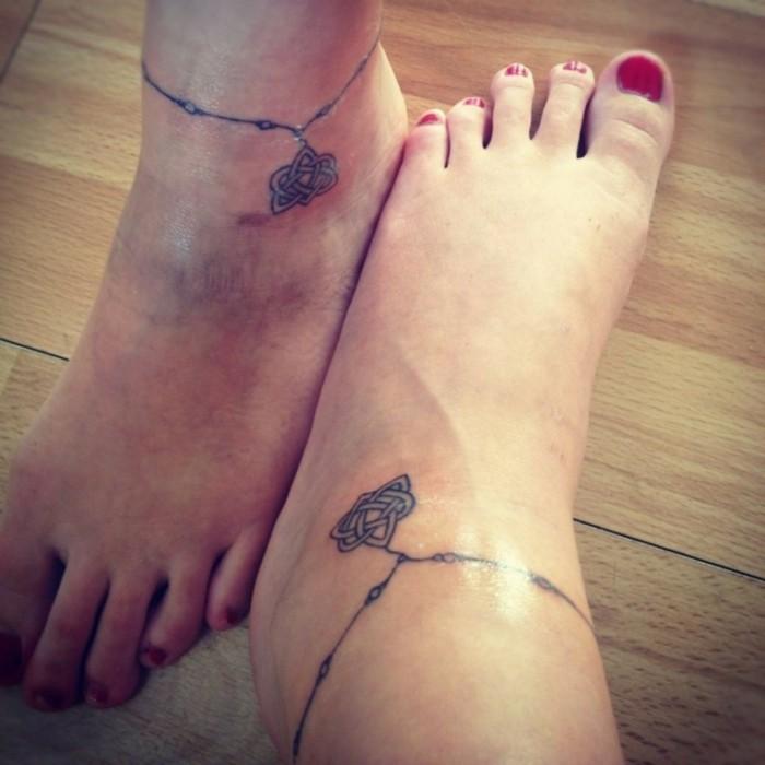 tattoo knöchel als armband
