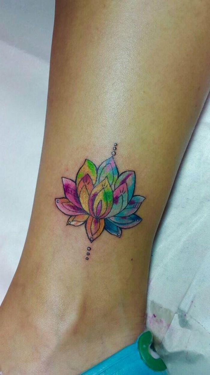 tattoo knöchel lotus passend für frauen