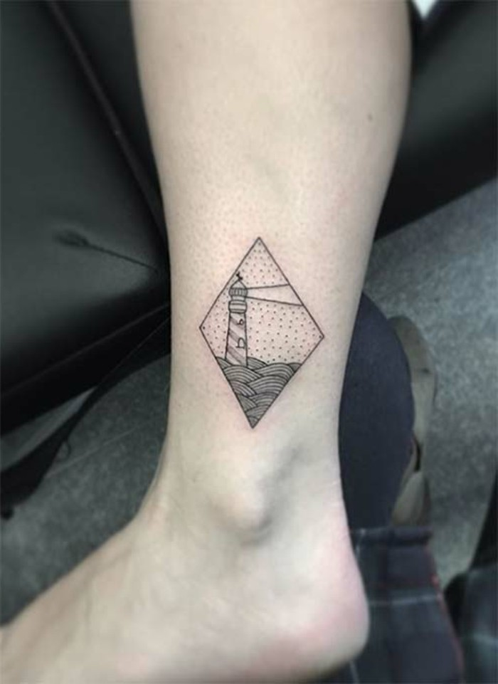 tattoo knöchel schönes muster das den blick fesselt