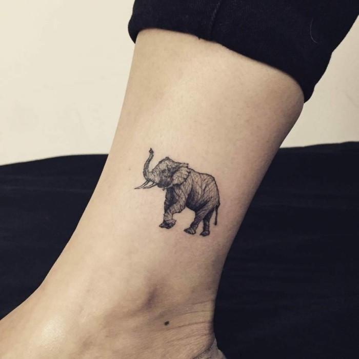 tattoo knöchel sich einen elefanten stechen lassen