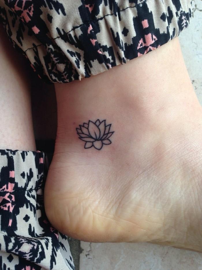 tattoo knöchel super weiblich und so schick