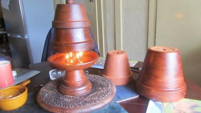 teelichtofen tischdek ound heizung terrakotta