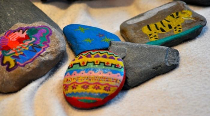 tiere malen auf steinen bastelideen für kinder