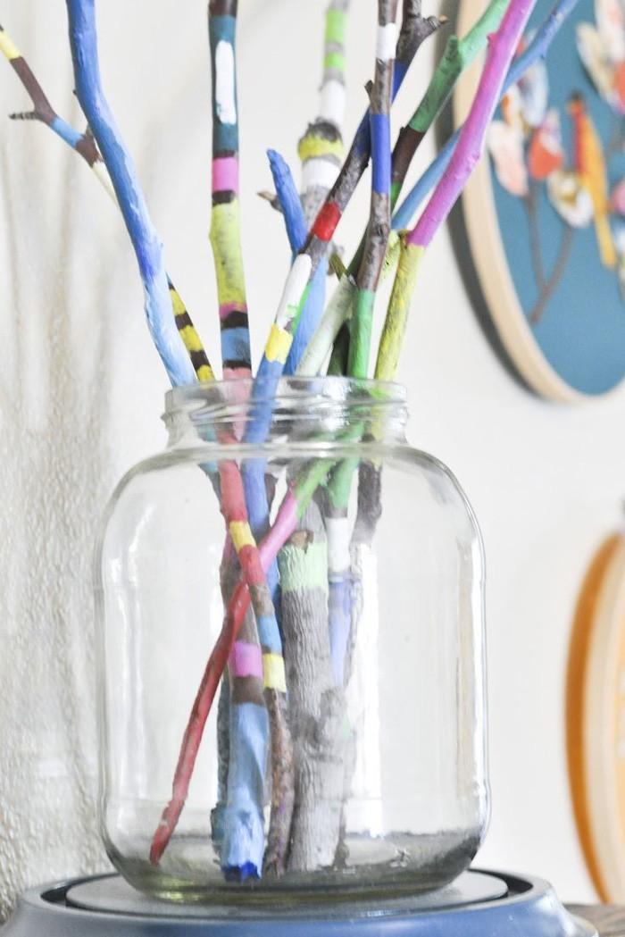 treibholz deko basteln mit naturmaterialien einmachglas