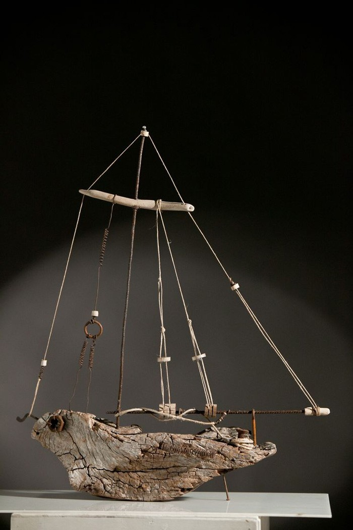 treibholz deko basteln mit naturmaterialien wanddekoration schiff
