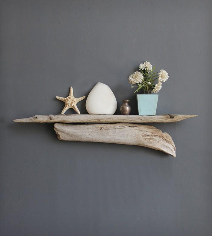 Basteln mit naturmaterialien 30 ideen f r dekorieren mit - Wandregal dekorieren ...