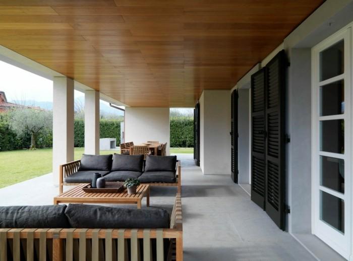 gartenideen für das patio stilvoll einrichten mit erholungsbereich und essbereich