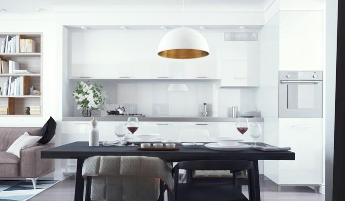 warme ausstrahlung in einer eleganten küche