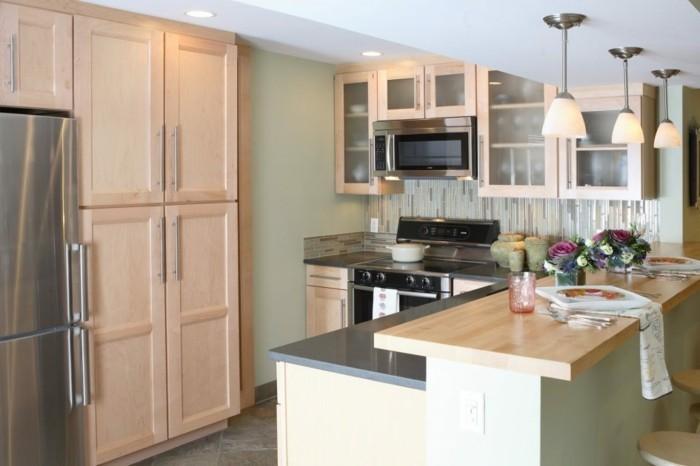 winkelküche kleine küche einrichten und platz sparen