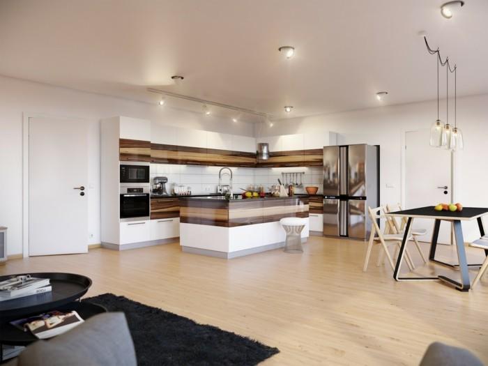 winkelküche mit freistehender kücheninsel