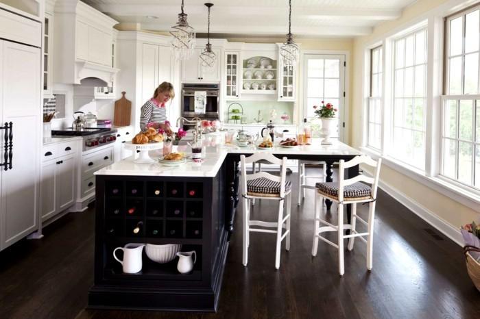winkelküche mit funktionaler kücheninsel