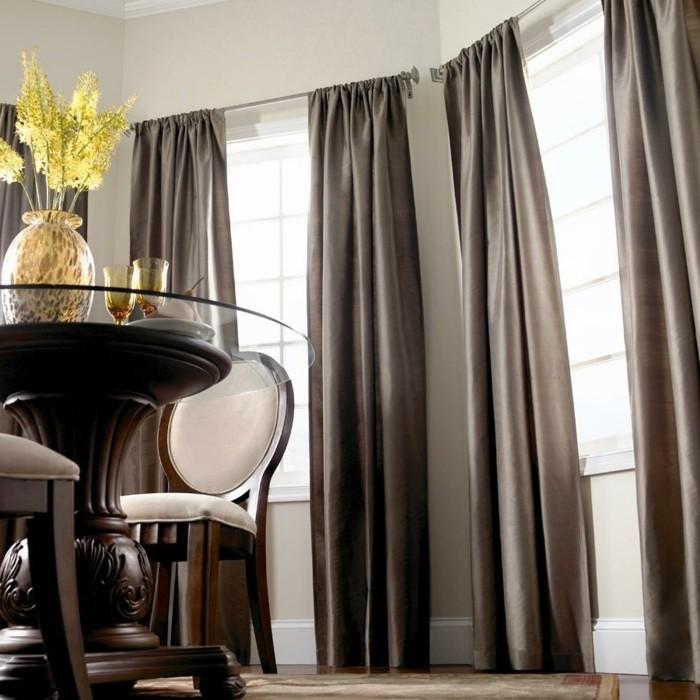 wohnideen esszimmer stilvolle gardinen als sicht und sonnenschutz