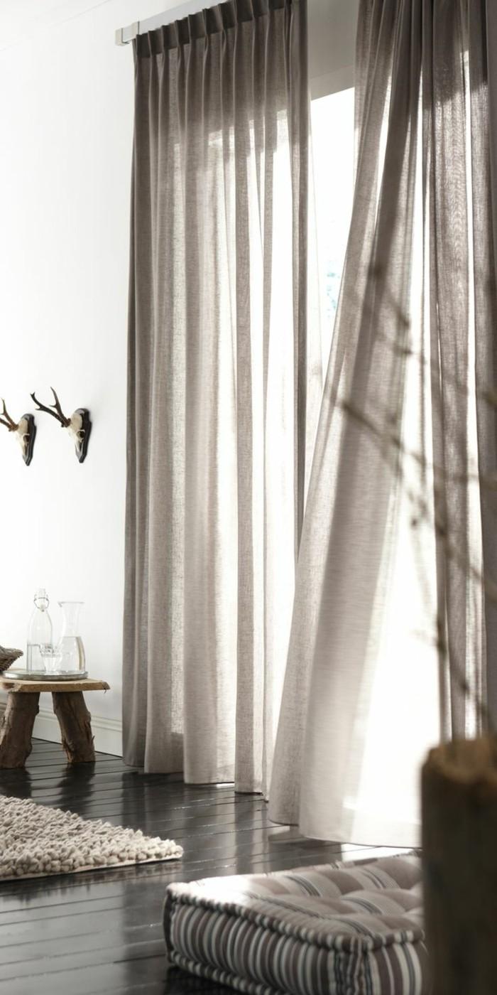 wohnideen wohnzimmer luftige weiße gardinen