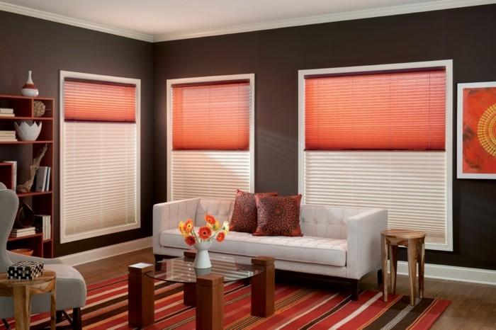 wohnideen wohnzimmer plissee ist eine gute lösung für den sicht und sonnenschutz
