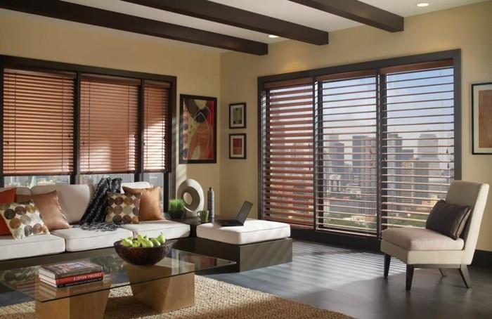 wohnideen wohnzimmer sicht und sonnenschutz ideen