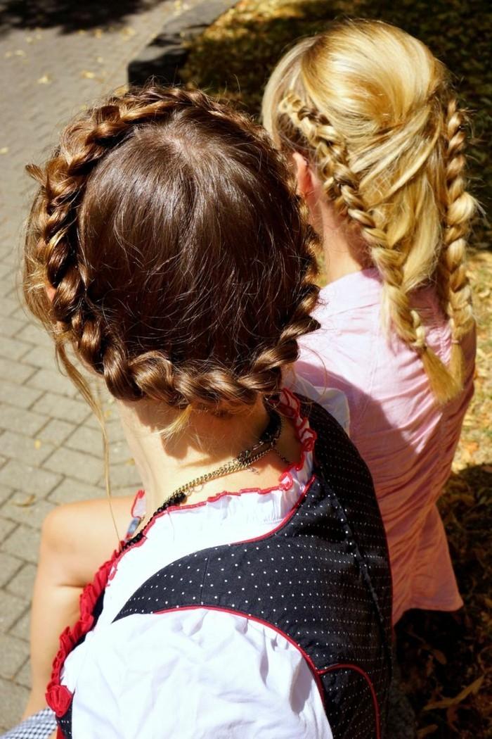 Oktoberfest Frisuren mit Anleitungen in Bildern dirndl frisur2