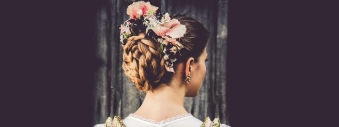 Oktoberfest Frisuren mit Anleitungen in Bildern hinterkopf