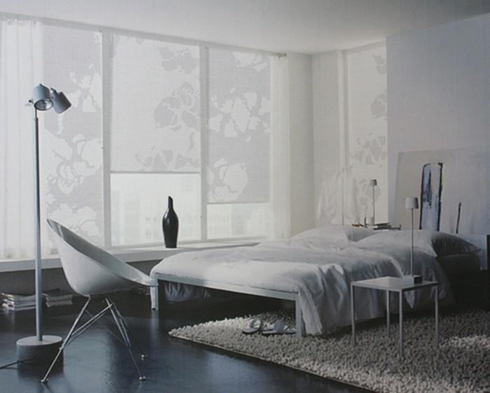 Textildesign ganz dezente muster im schlafzimmer