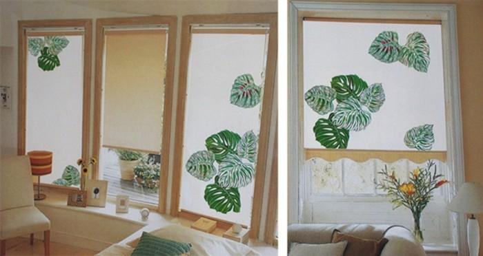 Textildesign grüne blätter erfrischen das innendesign
