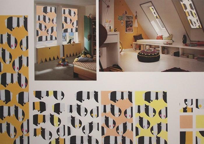 Textildesign moderne ideen für das raffrollo
