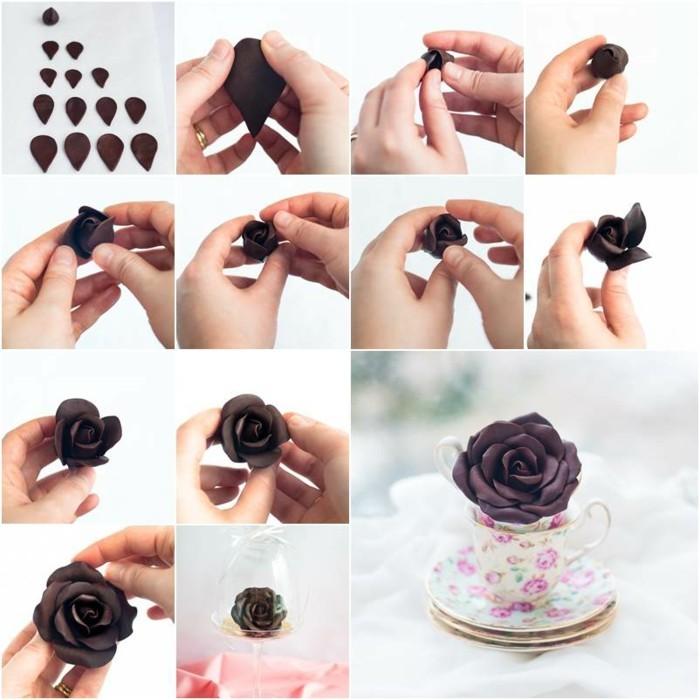 anleitung rose aus modellierschokolade selber machen