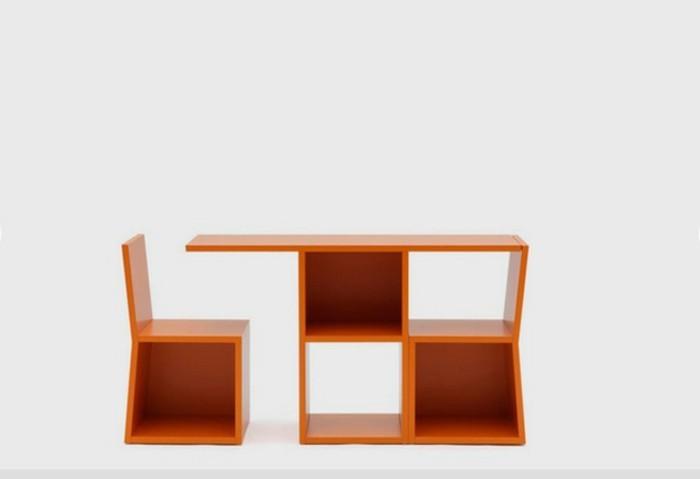 arbeitstisch integrierter stuhl multifunktionsmöbel