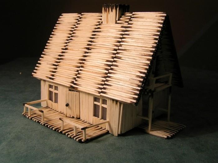 bastelideen diz deko streichholz architektur