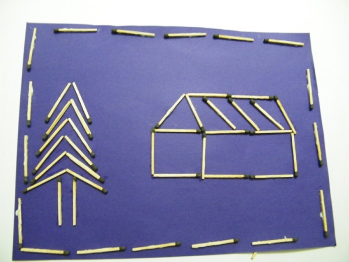 bastelideen diz deko strichholz streichholzbilder