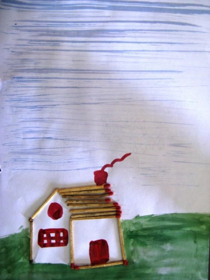 bastelideen diz deko strichholz streichholzstern asteln mit kindern