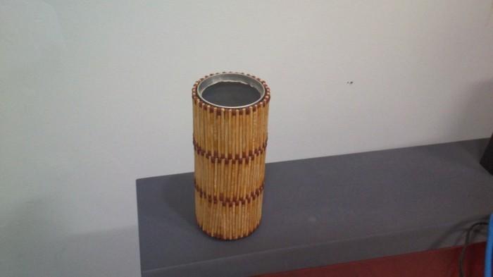 bastelideen diz deko strichholz streichholzstern becher