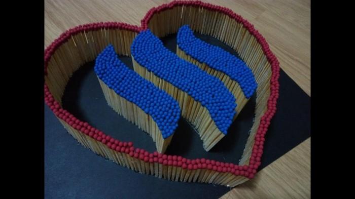 bastelideen diz deko strichholz streichholzstern szenarium 3d