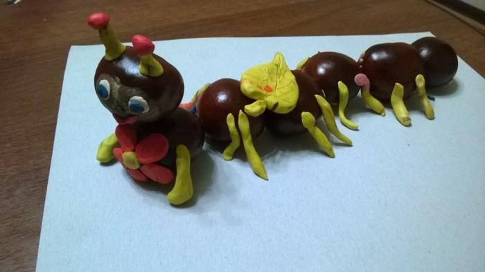 basteln mit kastanien kreative bastelideen für kinder