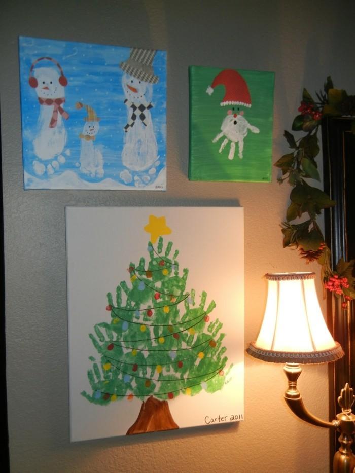 Weihnachtsbilder Zum Basteln.55 Handabdruck Bilder Die Klein Und Groß Froh Machen