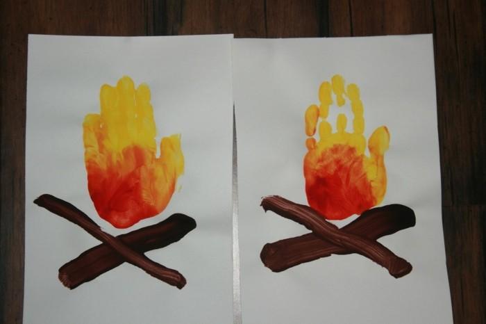 Diy Mit Kindern 55 handabdruck bilder die klein und groß froh machen