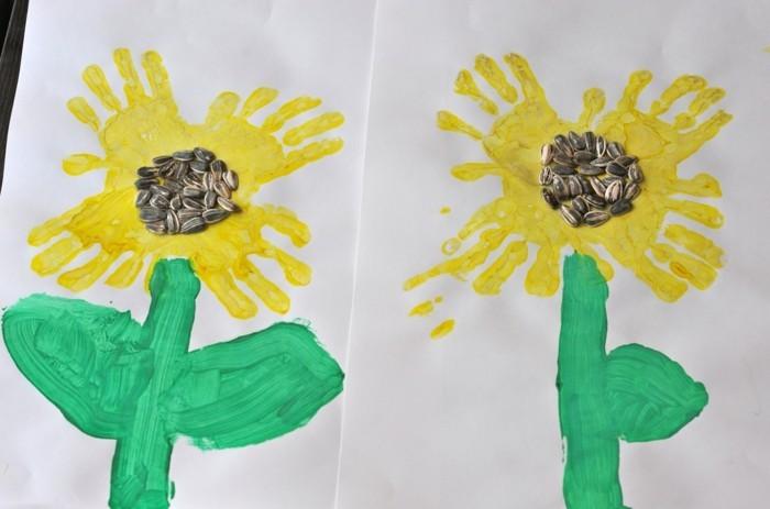 basteln mit kindern kreative ideen für schöne blumen aus handabdrücken
