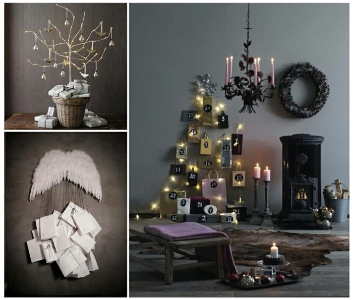 bastelvorlagen weihnachten adventkalender sleber basteln mit geschenktüten