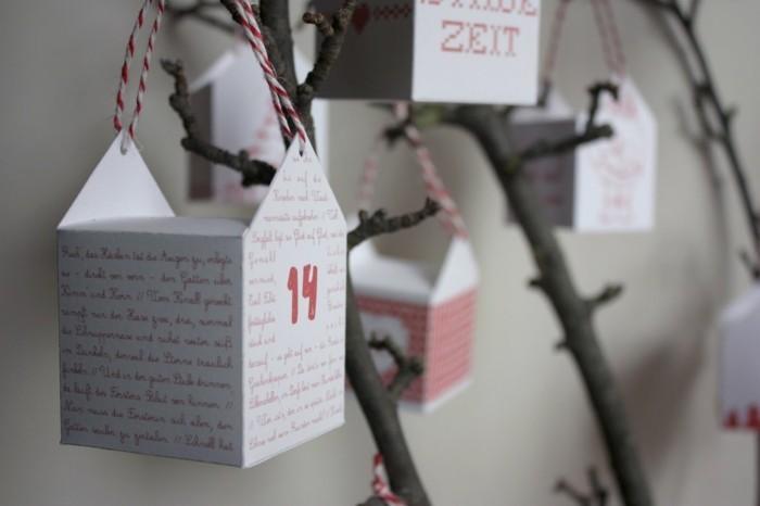 bastelvorlagen weihnachten adventkalender sleber basteln mit karton