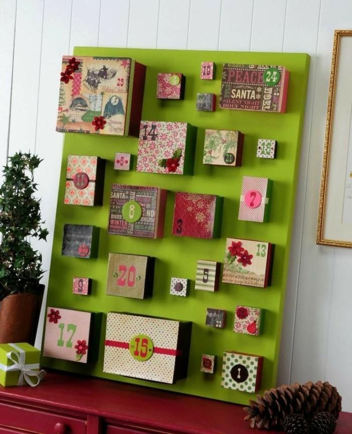 bastelvorlagen weihnachten adventkalender sleber basteln mit kartonschachteln