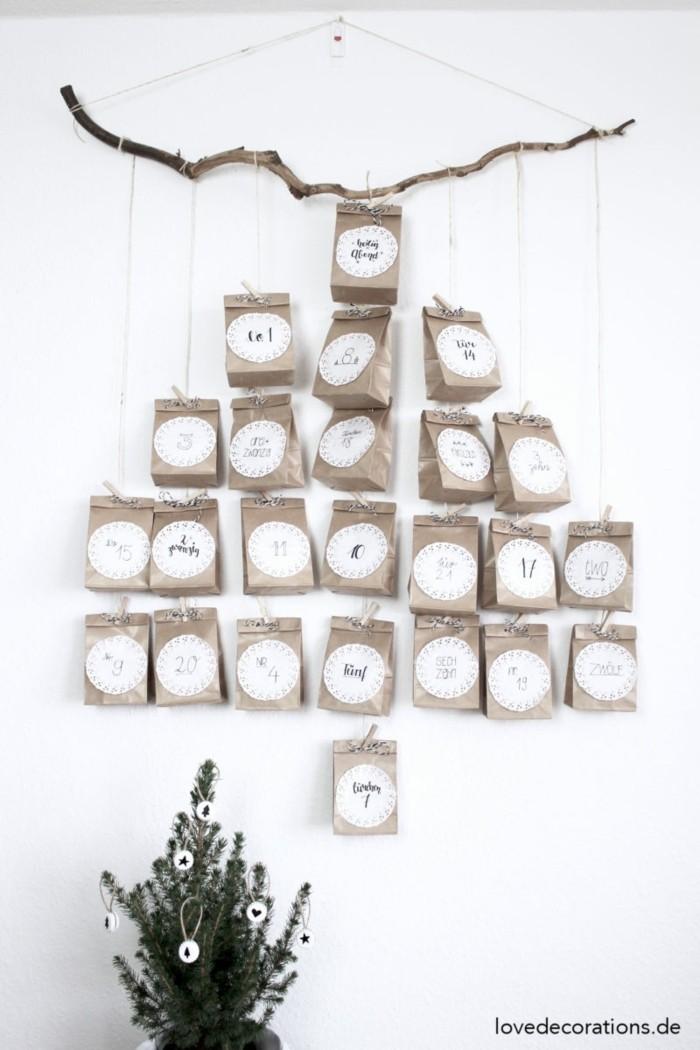 bastelvorlagen weihnachten adventkalender sleber basteln mit treibholz