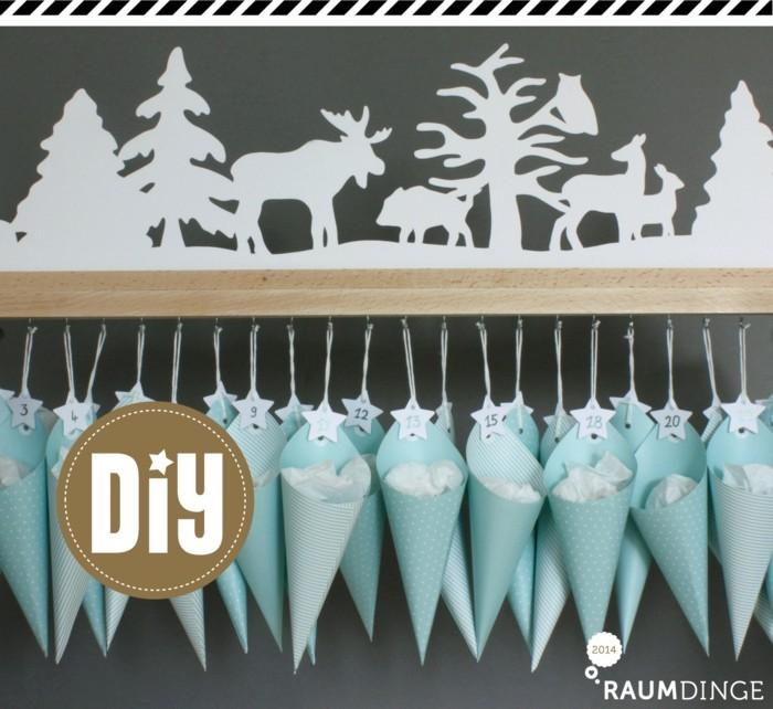 bastelvorlagen weihnachten adventkalender sleber basteln tüten