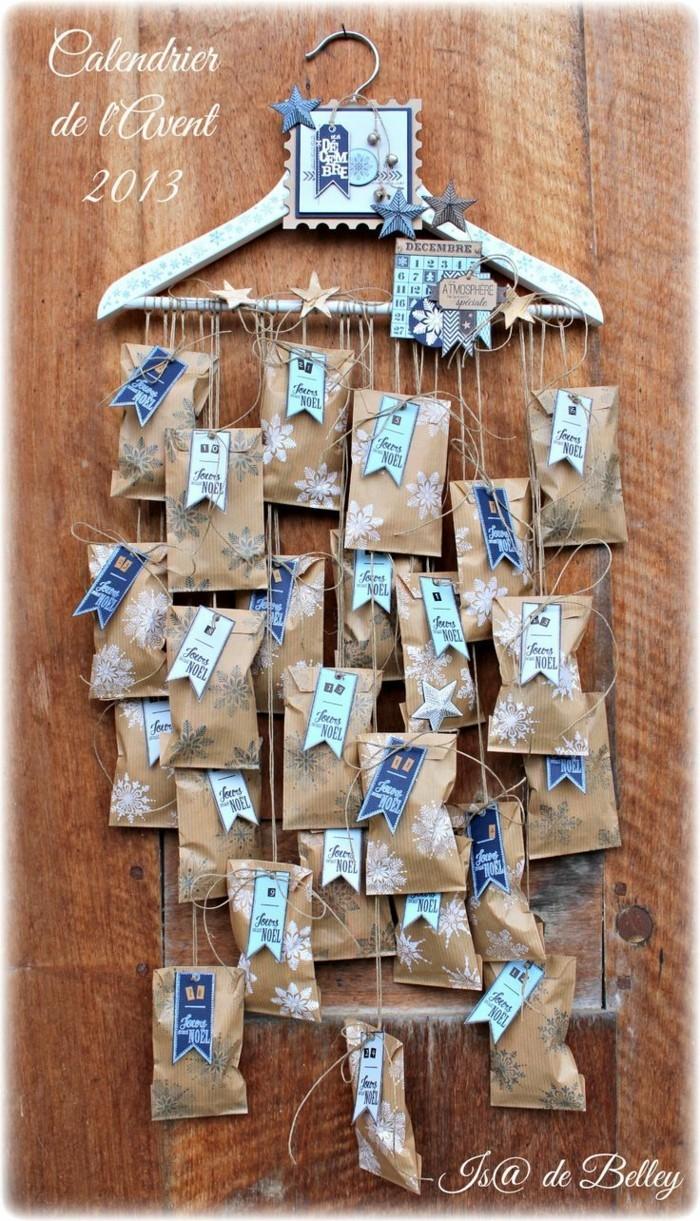 bastelvorlagen weihnachten adventkalender sleber basteln wiederverwendung papiertüten